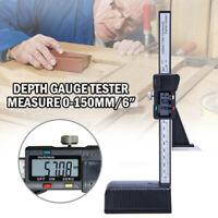 150mm 6'' Electronic Digital Vernier Caliper Micrometer Gauge w/Magnetic Base