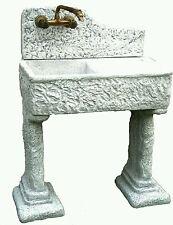 lavandino lavabo  lavello pietra cemento no rubinetto con piedi  basi piedi