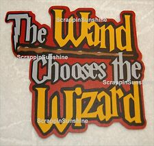 UNIVERSAL STUDIOS Harry Potter Wand Chooses the Wizard Die Cut Title - SSFFDeb