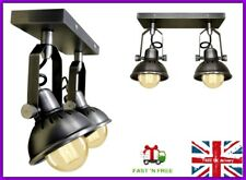 Double plafonnier industriel Mural Pub Bar Spot Luminaire Lampe Downlight NEW
