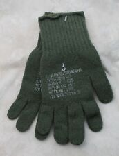 GENUINE WOOL US MILITARY ARMY ISSUE OD GREEN COMBAT GLOVES / LINERS SZ 3 MEDIUM