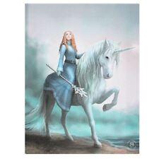 Unicorn tela stampa di Anne Stokes. viaggio comincia. FANTASY/Mito.