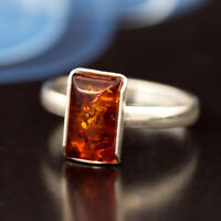 Bernstein Silber 925 Ring Sterlingsilber Damen-Schmuck verschiedene Groessen R26