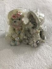 """1994 Enesco Calico Kittens """"You Make Life Colorful"""" #102601 Best Friends W/Cert"""