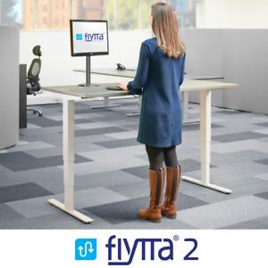 FLYTTA 2: Dual Motor Height Adjustable Electric Standing Desk- Frame and DeskTop