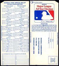 1970 RARE MLB ALL-STAR BASEBALL GAME UNUSED BALLOT at CINCINNATI REDS RIVERFRONT
