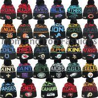 New Era NFL 2016 WINTER FREEZE Pom Pom Beanie Knit Hat Cap One Size Many Teams