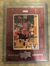 1999 99 UPPER DECK ATHLETE OF THE CENTURY UD REMEMBERS Michael Jordan #UD1