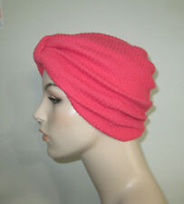 Coral Textured Stretchy Cotton Women's  Turban Chemo CancerHat  USA  Alopecia