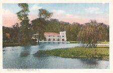 Princeton NJ University Boat House Postcard PC WB New Jersey College Crew Lake