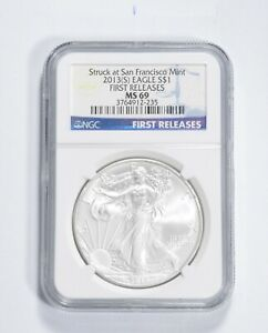 MS69 2013-(S) American Silver Eagle - First Releases - Graded NGC *377