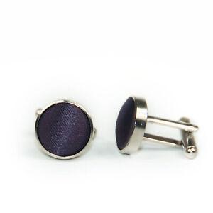 Formal Tailor Aubergine Purple Cufflinks Wedding Groom Shirt- Purple