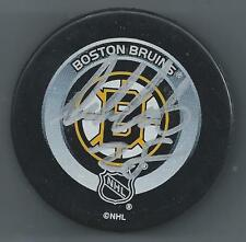 Dan LaCouture  Boston Bruins  Autographed - Hockey Puck