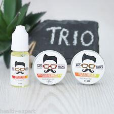 Mo Bro's Beard  & Moustache Essential Trio Balm, Wax & Oil - Orange Bergamot