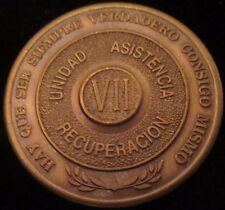 Alcoholicos Anonimos 7 year Bronze Medallion Spanish  AA Alcoholics Anonymous