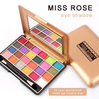 24 Colors Eyeshadow Palette Makeup Matte Shimmer Glitter Cosmetic Eye Shadow