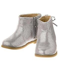 NWT Gymboree Enchanted Winter Silver Boots Booties Shoes Toddler Girls 4 5 6 7