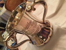 "ANTIQ TIFFANY&C0 STERLING SILVER LOVING CUP/VASE/URN TROPHY 1891-1902 ""T"" ORNATE"