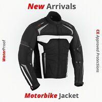 New Motorcycle Racing Jacket Armored Waterproof Sports Touring Cordura Jackets