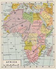 C2591 Africa - Carta geografica d'epoca - 1933 vintage map