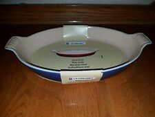 Le Creuset Lapis Blue Oval Baking Dish 14 inch