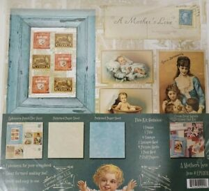 NEW Minds Eye Mother's Love Ephemera Card Pack Paper Kit NEW 12x12