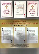 PLAYING CARDS. Regular Poker deck with Bible Healing Verses,  See SPECIAL OFFER