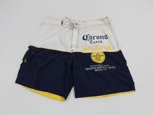 Corona Extra Adult 36 White Casual Drawstring Swim Shorts Men Beach