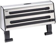 Emsa 504180, Contura, Portarotoli triplo in acciaio inox, 41 cm, colore: Nero