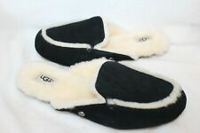 NIB UGG Australia Lane Scuffette Shearling Lined Women Slippers Black 6.5 10
