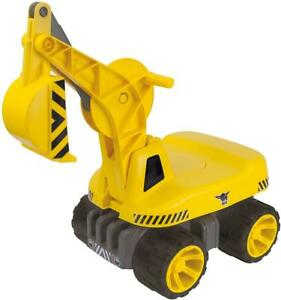 BIG 800055811 - Kinderfahrzeug Bagger Power Worker Maxi Digger gelb