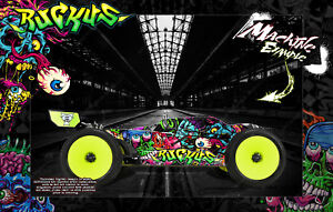 LOSI 8IGHT-T & E 4.0 & 3.0 'RUCKUS' SKIN GRAPHICS WRAP FIT TLR240009 & TLR240006