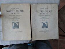 2 Vols.NOTRE-DAME De PARIS,1930,VICTOR HUGO,Limited ED.,WOODCUTS,F.Masereel,DJ