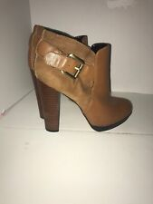 Sam Edelman Leather Cognac Brown Ankle Booties Boots Size 6