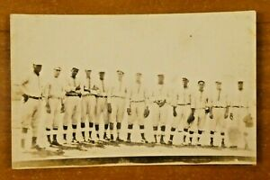 Rare 1930's Cuban Negro League Baseball Original Real Photo Postcard