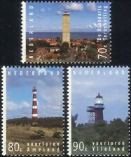 Netherlands 1994 Lighthouses/Maritime Safety/Buildings/Architecture 3v (n21294)