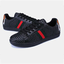 Stylish Weave Skate Shoes For Couples - Black (SPJ050852)