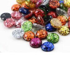 40pcs 12mm Mix  Flatback Resin Cabochons Cameo Jewelry DIY handmade accessories