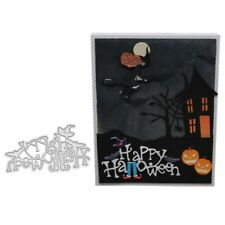 Happy Halloween Metal DIY Cutting Dies Stencil Scrapbooking Embossing Paper Card