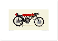 Realistic Artwork Honda 1965 Honda RC115 by Seevert Works
