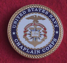 Challenge Coin Medal United States Chaplain Corps Department of Navy Religion