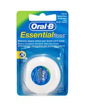 3 X Oral B Essential Floss Mint Waxed DENTAL 50M  Wax FREE P&P
