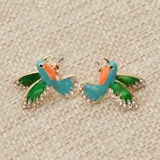 Women Cute Hummingbird Stud Earrings Animal Flying Birds Earrings Jewelry 1 Pair