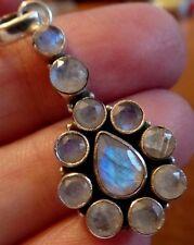 Superb Sterling Silver & Rainbow Moonstone Pendant
