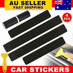 4pcs Anti-Kick Carbon Fiber Car Accessories Door Sill Scuff Protector Stickers
