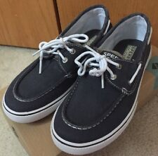 Sperry Top Sider Halyard Youth Boys Canvas Shoes Size 3.5 M