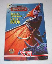 SSI TSR AD&D Dungeons & Dragons Ravenloft Strahd's Possession Clue Book hint
