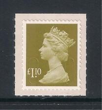 GB 2011 Machin Definitives, £1.10, yellow-olive, SG U2933, MNH