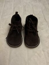Janie and Jack CHUKKA BOOTS Size 5 toddler/ brown suede