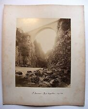 PHOTO D'ÉPOQUE ST-SAUVEUR PONT NAPOLÉON 1892 / TIRAGE ALBUMINÉ / 21,5 x 27 CM